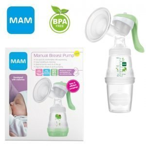 MAM Baby Infant Breast Feeding Manual Pump