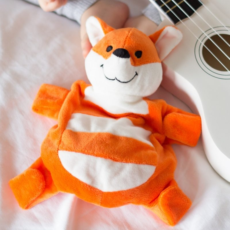 Sleepytot Beans Cow Fox Stuffed Animal Plush Toy for Kids Baby Toddlers Cot Gift